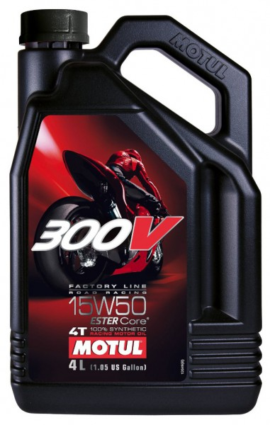 Motul 300V Factory Line Road Racing 15W50 - 4 Liter