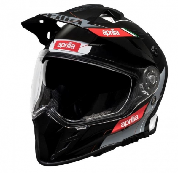 Aprilia Off Road Helm Multiroad schwarz weiß rot