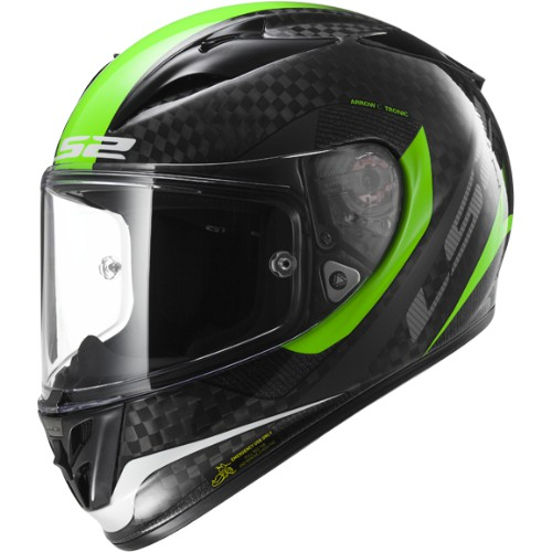 LS2 Helm FF323 Arrow C Tronic Carbon-Fluo Grün