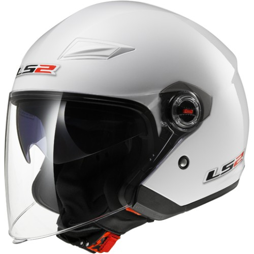 LS2 Helm OF 569 Track Glanz Weiss