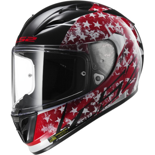 LS2 Helm FF323 Arrow R Stride Schwarz-Rot