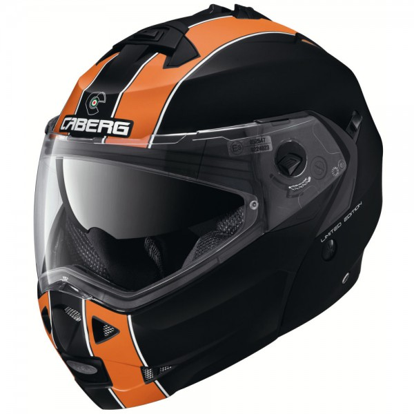 Caberg Duke LEGEND Matt-schwarz/weiß-ORANGE